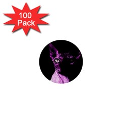 Pink Sphynx cat 1  Mini Buttons (100 pack)