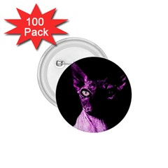 Pink Sphynx cat 1.75  Buttons (100 pack)