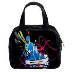 Sneakers Shoes Patterns Bright Classic Handbags (2 Sides)