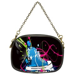Sneakers Shoes Patterns Bright Chain Purses (One Side)