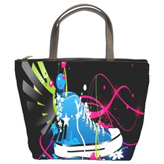 Sneakers Shoes Patterns Bright Bucket Bags