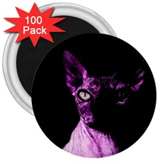 Pink Sphynx cat 3  Magnets (100 pack)