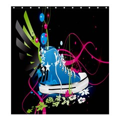 Sneakers Shoes Patterns Bright Shower Curtain 66  x 72  (Large)