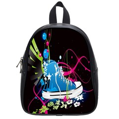 Sneakers Shoes Patterns Bright School Bags (Small)