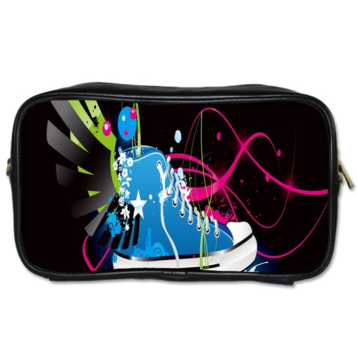 Sneakers Shoes Patterns Bright Toiletries Bags 2-Side