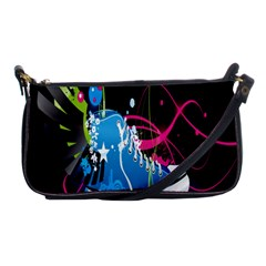 Sneakers Shoes Patterns Bright Shoulder Clutch Bags