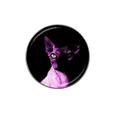 Pink Sphynx cat Hat Clip Ball Marker (10 pack)