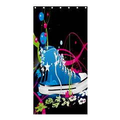 Sneakers Shoes Patterns Bright Shower Curtain 36  x 72  (Stall)