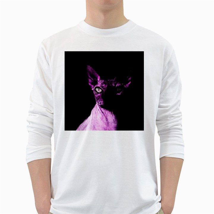 Pink Sphynx cat White Long Sleeve T-Shirts