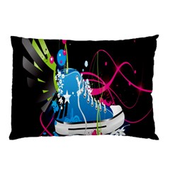 Sneakers Shoes Patterns Bright Pillow Case (Two Sides)