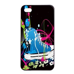 Sneakers Shoes Patterns Bright Apple iPhone 4/4s Seamless Case (Black)