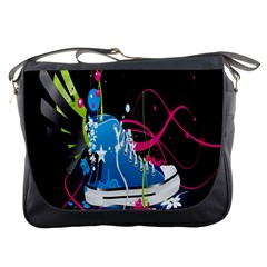 Sneakers Shoes Patterns Bright Messenger Bags