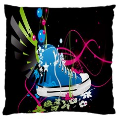 Sneakers Shoes Patterns Bright Large Cushion Case (Two Sides)