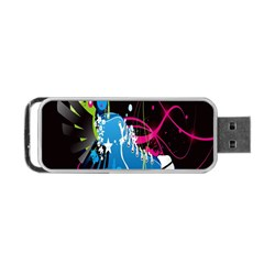 Sneakers Shoes Patterns Bright Portable USB Flash (Two Sides)
