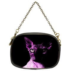 Pink Sphynx cat Chain Purses (Two Sides)