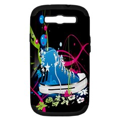 Sneakers Shoes Patterns Bright Samsung Galaxy S III Hardshell Case (PC+Silicone)