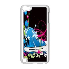 Sneakers Shoes Patterns Bright Apple iPod Touch 5 Case (White)