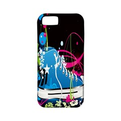 Sneakers Shoes Patterns Bright Apple iPhone 5 Classic Hardshell Case (PC+Silicone)