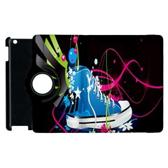 Sneakers Shoes Patterns Bright Apple Ipad 3/4 Flip 360 Case