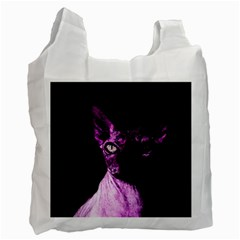 Pink Sphynx cat Recycle Bag (One Side)