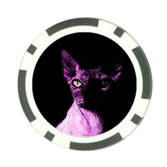 Pink Sphynx cat Poker Chip Card Guard (10 pack)