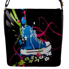 Sneakers Shoes Patterns Bright Flap Messenger Bag (S)