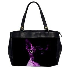 Pink Sphynx cat Office Handbags