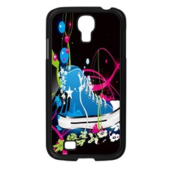 Sneakers Shoes Patterns Bright Samsung Galaxy S4 I9500/ I9505 Case (Black)