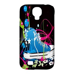 Sneakers Shoes Patterns Bright Samsung Galaxy S4 Classic Hardshell Case (PC+Silicone)
