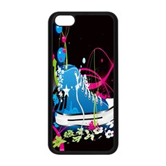 Sneakers Shoes Patterns Bright Apple iPhone 5C Seamless Case (Black)