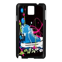 Sneakers Shoes Patterns Bright Samsung Galaxy Note 3 N9005 Case (Black)