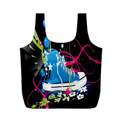 Sneakers Shoes Patterns Bright Full Print Recycle Bags (M)