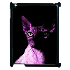 Pink Sphynx cat Apple iPad 2 Case (Black)