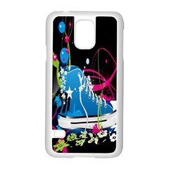 Sneakers Shoes Patterns Bright Samsung Galaxy S5 Case (White)