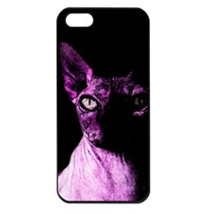 Pink Sphynx cat Apple iPhone 5 Seamless Case (Black)