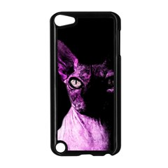 Pink Sphynx cat Apple iPod Touch 5 Case (Black)