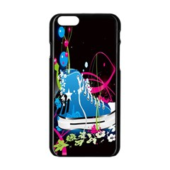Sneakers Shoes Patterns Bright Apple iPhone 6/6S Black Enamel Case