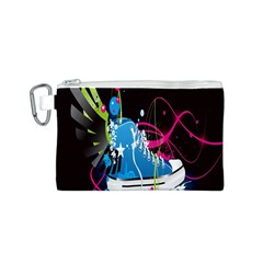 Sneakers Shoes Patterns Bright Canvas Cosmetic Bag (s)