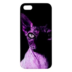 Pink Sphynx cat Apple iPhone 5 Premium Hardshell Case