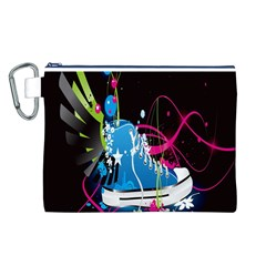 Sneakers Shoes Patterns Bright Canvas Cosmetic Bag (l)