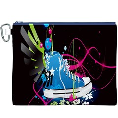 Sneakers Shoes Patterns Bright Canvas Cosmetic Bag (xxxl)