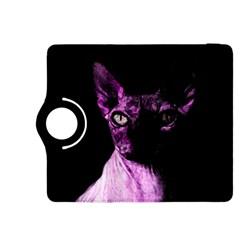 Pink Sphynx cat Kindle Fire HDX 8.9  Flip 360 Case