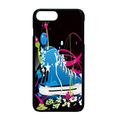 Sneakers Shoes Patterns Bright Apple Iphone 7 Plus Seamless Case (black)