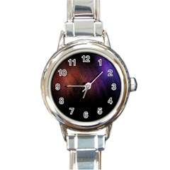 Point Light Luster Surface Round Italian Charm Watch