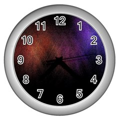 Point Light Luster Surface Wall Clocks (silver)
