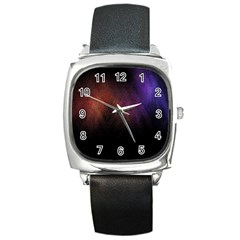 Point Light Luster Surface Square Metal Watch