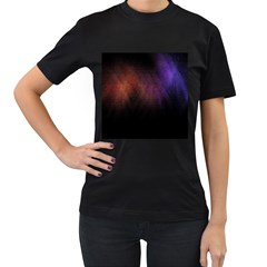 Point Light Luster Surface Women s T Shirt (black) (two Sided)