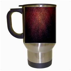 Point Light Luster Surface Travel Mugs (White)
