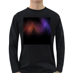 Point Light Luster Surface Long Sleeve Dark T-Shirts