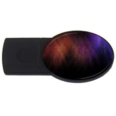 Point Light Luster Surface USB Flash Drive Oval (4 GB)